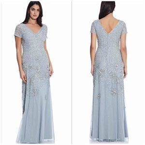 Adrianna Papell Beaded Sequin-Embellished Gown